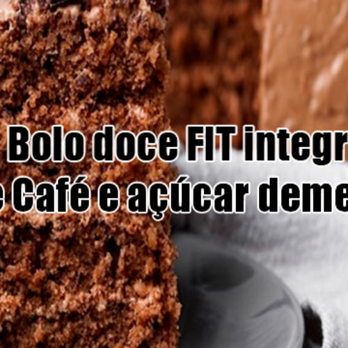 Bolo doce FIT integral de Café e açúcar demerara