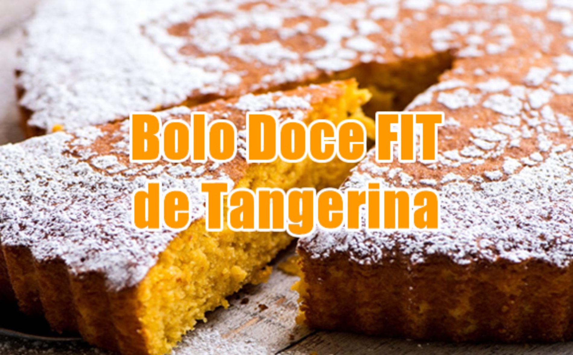 Bolo doce FIT integral de tangerina e açúcar orgânico