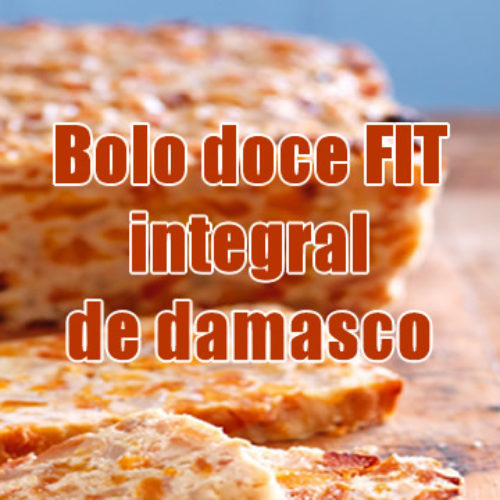 Bolo doce FIT integral de damasco