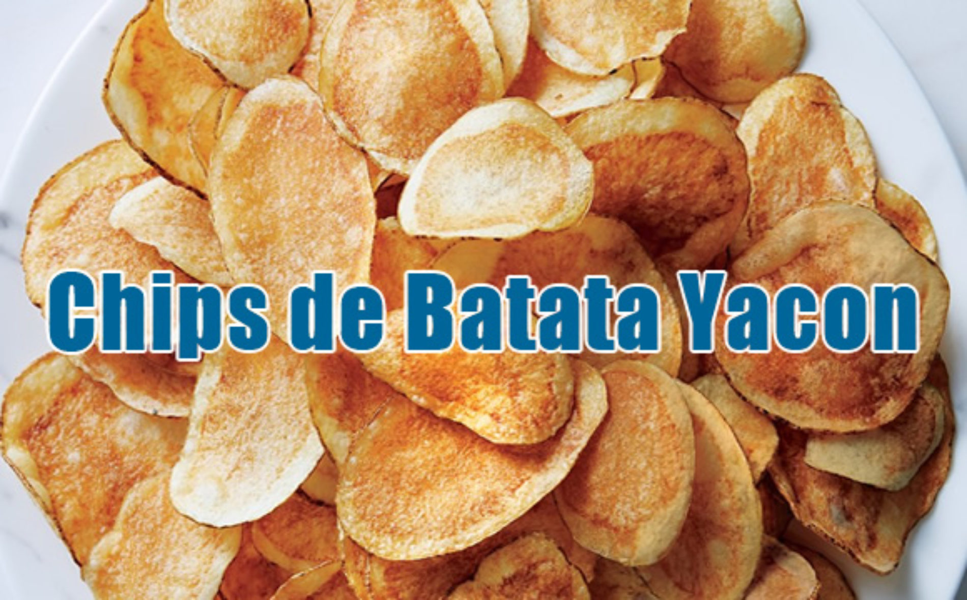 Receita FIT Chips de Batata Yacon