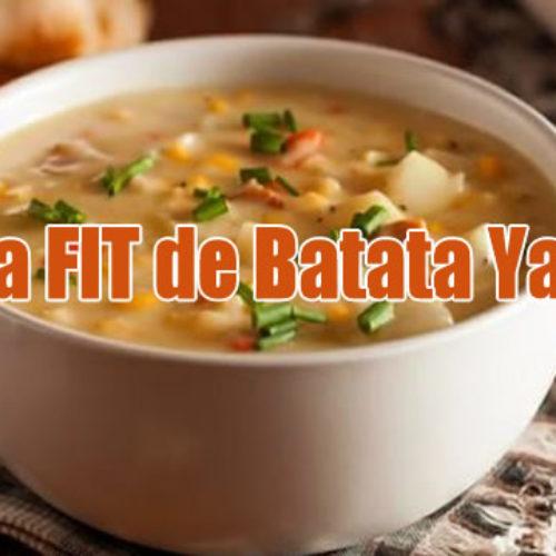 Sopa FIT de Batata Yacon para sua dieta
