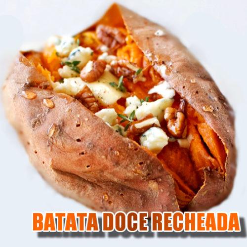 Receita FIT express de Batata Doce recheada