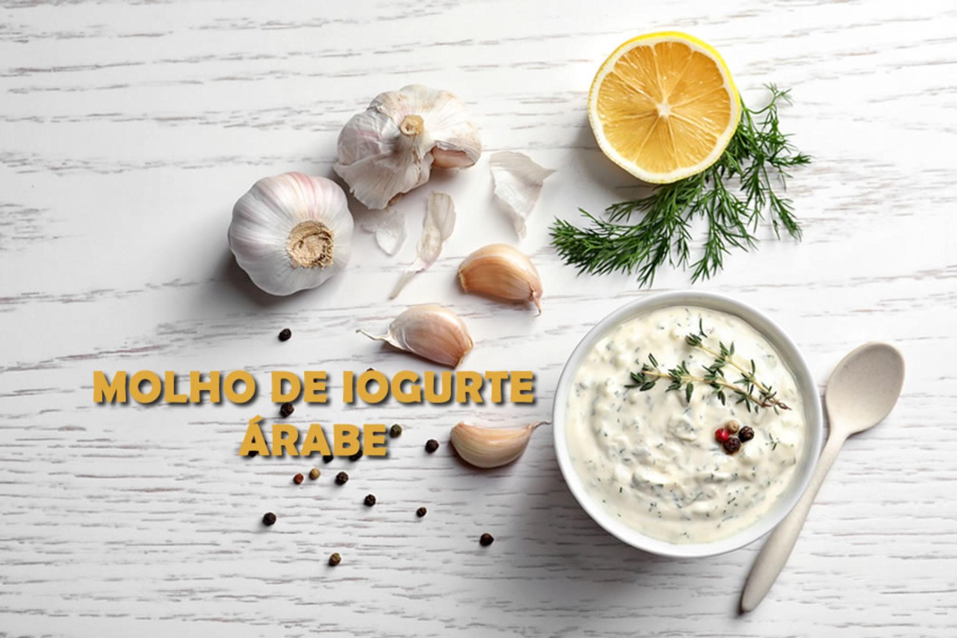 Molho de iogurte Árabe FIT com requeijão e batatas