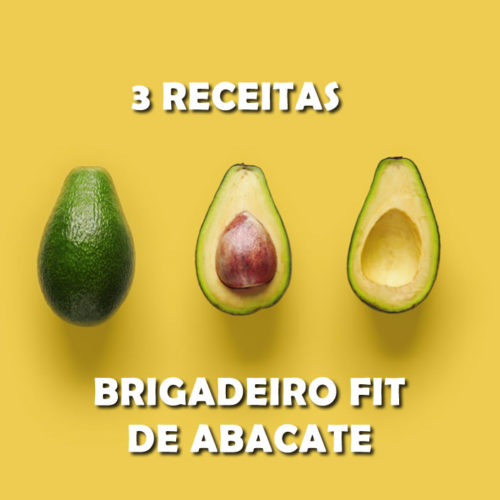 3 receitas FIT de brigadeiro de abacate para sua dieta