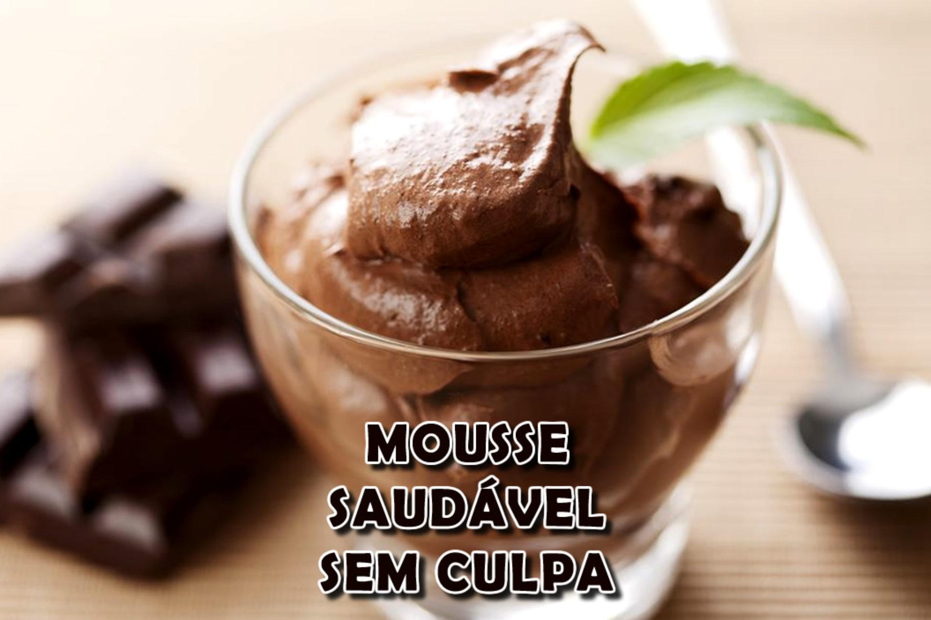 Mousse de Chocolate saudável com chá de cardamomo