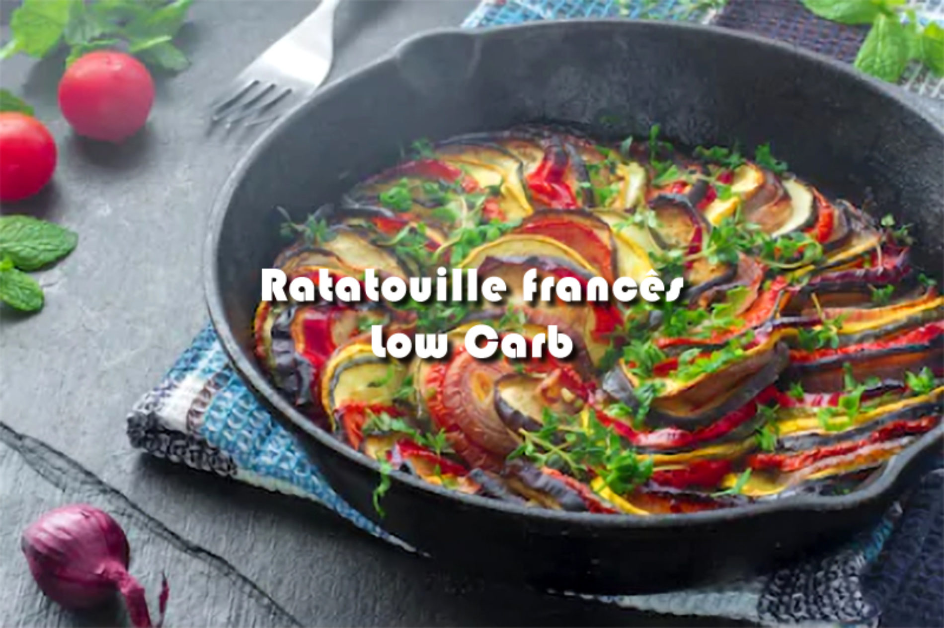Ratatouille francês Low Carb
