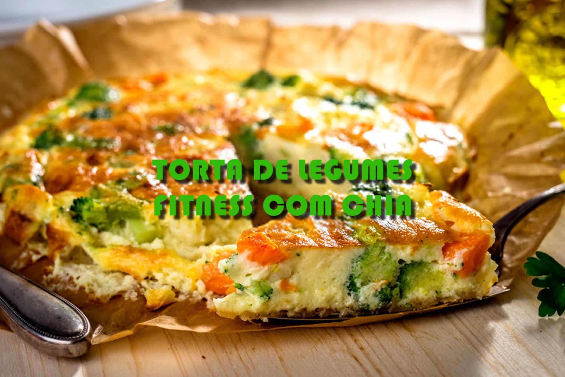Torta de legumes FIT com chia