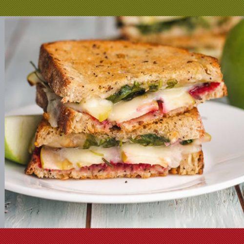 Sanduíche Vegetariano de Ricota e Maçã