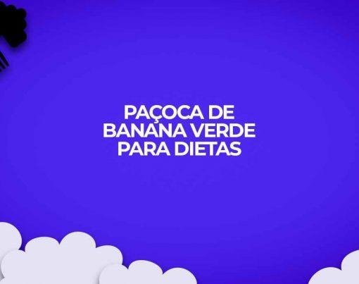 pacoca doce de banana verde receitas fitness