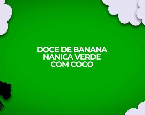 doce de banana nanica verde com coco receitas fitness