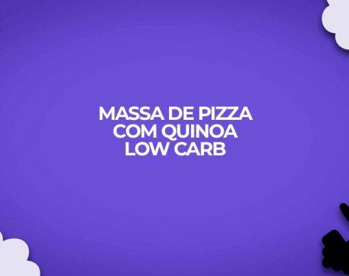 massa de pizza com quinoa low carb dietas fitness