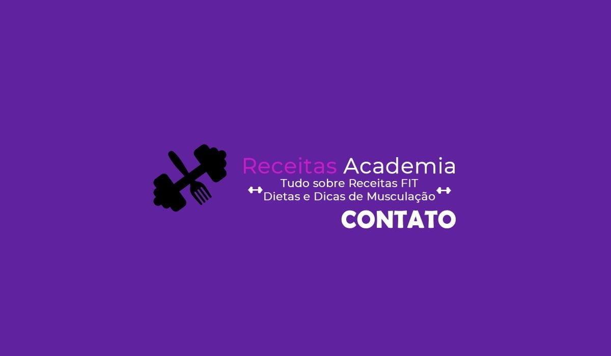 página de contato do site receitas academia