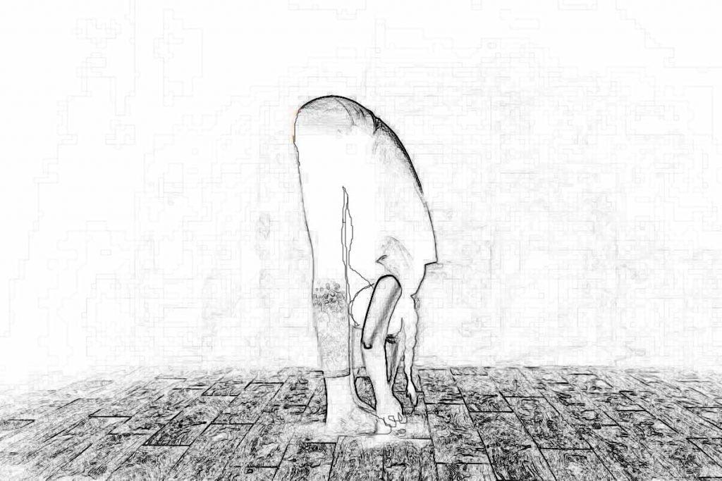 posição cegonha no yoga para crises de ansiedade